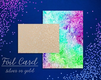 Whimsical Awareness Foil Card - YOUR OPTIONS