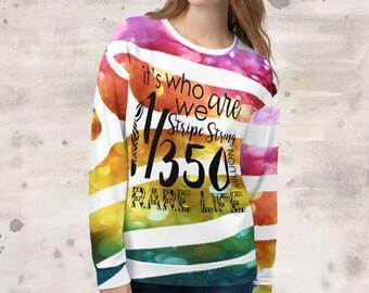 All Over Print We Are Zebras Sweatshirt