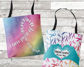 Chronic Hope Awareness Tote Bag/YOUR OPTIONS