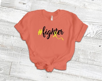 Hashtag Fighter Adult Shirt/Yellow - YOUR SHIRT COLOR