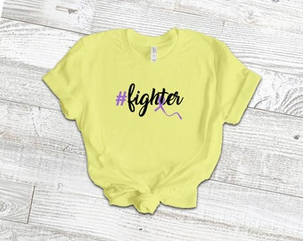 Hashtag Fighter Adult Shirt/Purple - YOUR SHIRT COLOR