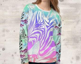 All Over Print Rainbow Aztec Zebras Sweatshirt