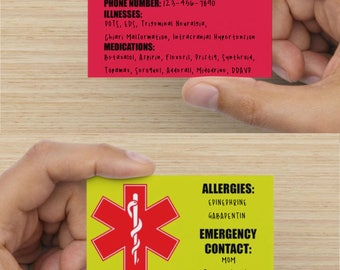 SALE Emergency Card - 5 Pack *