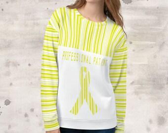 All Over Print Professional Patient/Yellow Sweatshirt