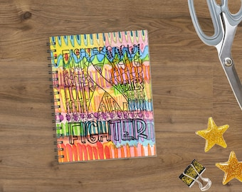 Fighter Typography Paint Planner *