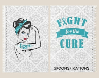 Turquoise Fight For The Cure Female Warrior Planner *
