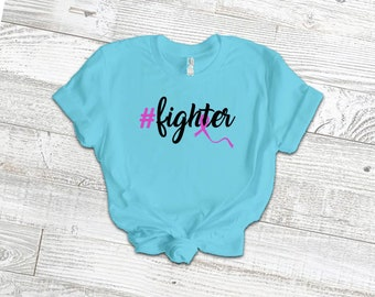 Hashtag Fighter Adult Shirt/Pink - YOUR SHIRT COLOR