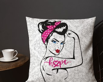 Chronic Illness Hope/Pink Two Sided Pillow Case ONLY