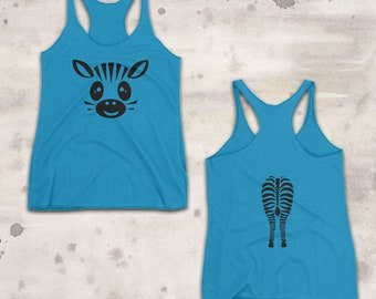 Two-Sided Zebra Tank - YOUR COLOR