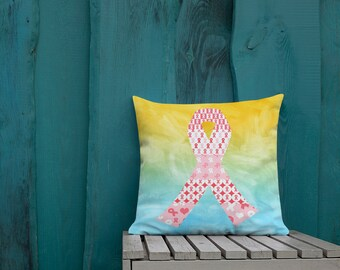 Red Ribbons on Ribbons Two Sided Pillow Case ONLY