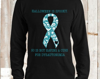 Dysautonomia/Spooky Halloween Adult Longsleeve Shirt