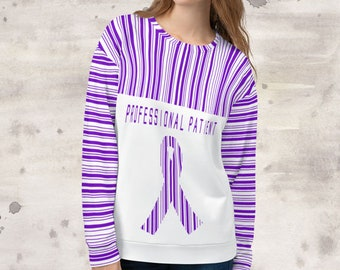 All Over Print Professional Patient/Purple Sweatshirt