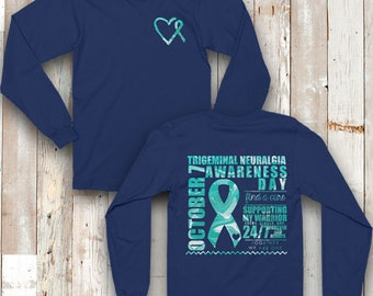 October 7 Trigeminal Neuralgia SUPPORTER Awareness Day Marble Two Sided Shirt