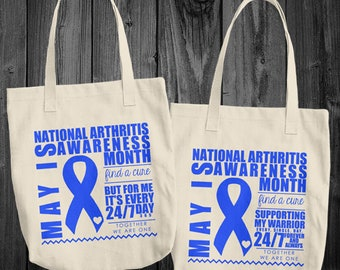 May/Arthritis Awareness Month Tote Bag