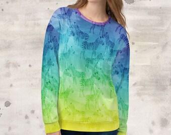 All Over Print Hidden Zebras Sweatshirt