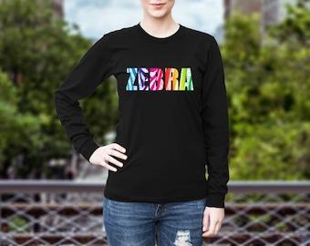 Zebra Zentangle Longsleeve Shirt