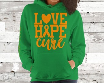 Multiple Sclerosis/Love Hope Cure Hoodie