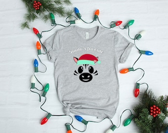 Santa's Favorite Zebra - YOUR SHIRT COLOR