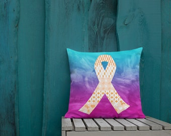 Orange Ribbons on Ribbons Two Sided Pillow Case ONLY