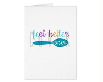 Feel Better Spoonie Card