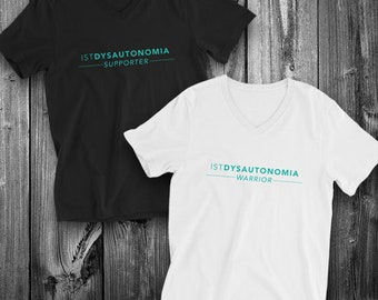 IST Dysautonomia Warrior/Supporter Adult VNeck Shirt - YOUR OPTIONS