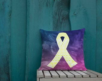 Yellow Ribbons on Ribbons Two Sided Pillow Case ONLY