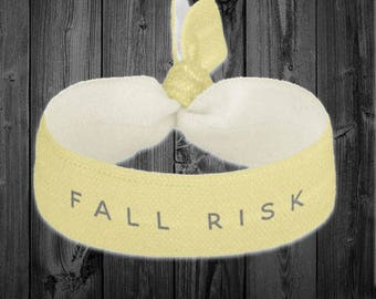 Fall Risk Hair tie/Bracelet/Wristband *
