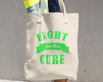 Fight For The Cure Green Ribbon Tote Bag