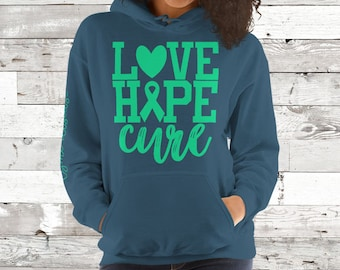 Lyme Disease/Love Hope Cure Hoodie