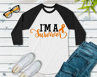 I'm A Survivor (Orange) Raglan