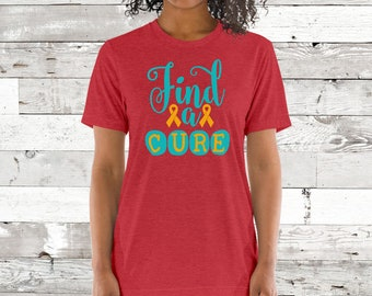 Find A Cure (Orange) Adult Shirt - YOUR COLOR SHIRT