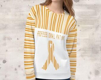 All Over Print Professional Patient/Orange Sweatshirt