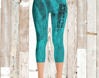 Dysautonomia Warrior Front Text Leggings