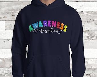 Awareness Creates Change Ribbons Hoodie