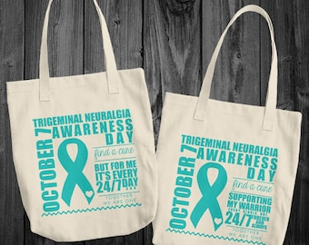 Oct 7/Trigeminal Neuralgia Awareness Month Tote Bag