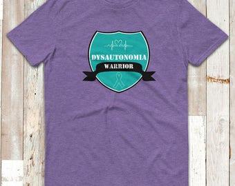 Dysautonomia Warrior Badge Adult Shirt - YOUR COLOR SHIRT