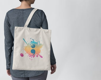 Semi Colon Birds Tote Bag