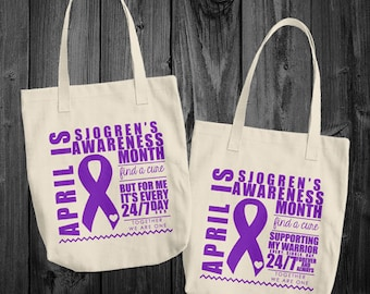April/Sjogrens Awareness Month Tote Bag