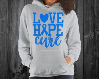 Ankylosing Spondylitis/Love Hope Cure Hoodie
