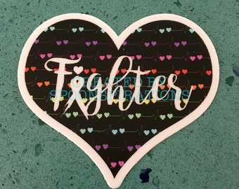 Fighter Tachy White Sticker *