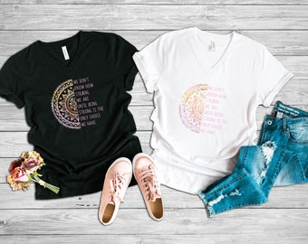Being Strong Only Choice Mandala Adult VNeck Shirt/Pink
