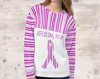 All Over Print Professional Patient/Pink Sweatshirt