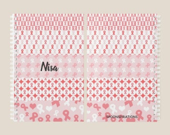 Red Ribbons Personalized Name Planner *