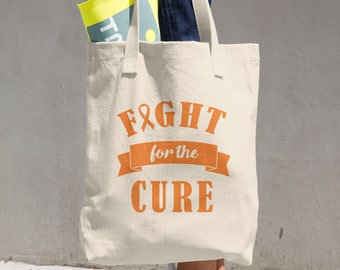 Fight For The Cure Orange Ribbon Tote Bag