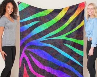 Zebra Mandala Blanket *