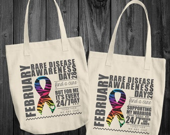 February/Rare Disease Awareness Month Tote Bag