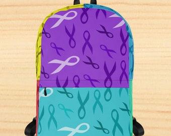 Awareness Ribbon Blocks Backpack