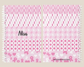 Pink Ribbons Personalized Name Planner *