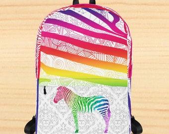 Zebra Zentangles Backpack