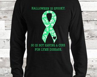 Lyme Disease/Spooky Halloween Adult Longsleeve Shirt